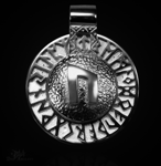 Runen-Amulett Uruz aus 950/000 Platin