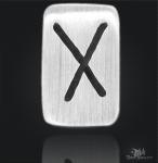 Runenplättchen/Runenstein Gebo 925/000 Sterling Silber