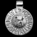 Sternzeichen Jungfrau - Tierkreiszeichen Amulett 950/000 Platin