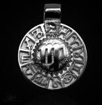Sternzeichen Jungfrau - Tierkreiszeichen Amulett aus 585/000, 14 Karat Weißgold