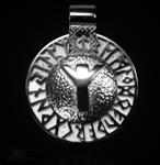 Runen-Amulett Algiz aus 950/000 Platin