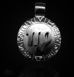 Sternzeichen Jungfrau - 20mm 925/000 Sterling Silber mit Kautschukband