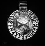 Runen-Amulett Dagaz aus 950/000 Platin