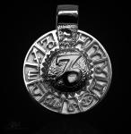 Sternzeichen Steinbock - Tierkreiszeichen Amulett 950/000 Platin