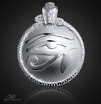 Großes Utchat Amulett aus 925/000 Sterling Silber ß~41mm.