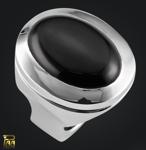 Ring Silber mit ovalem Onyx