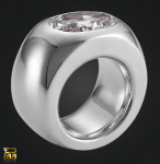 Ring 925/000 Sterlingsilber mit ovalem Zirkonia