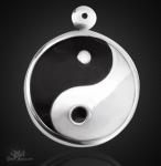 Yin Yang- Amulett groß aus 925/000 Sterling Silber