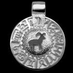 Sternzeichen Widder - Tierkreiszeichen Amulett bildliches Symbol 585/000 Weissgold