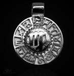 Sternzeichen Jungfrau - Tierkreiszeichen Amulett 925/000 Sterlingsilber mit Kautschukband