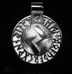 Runen-Amulett Jera aus 950/000Platin