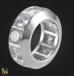 Memoire Ring Sterlingsilber mit Zirkonia