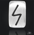 Runenplättchen/Runenstein Sowilo 925/000 Sterling Silber
