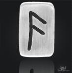 Runenplättchen/Runenstein Ansuz 925/000 Sterling Silber