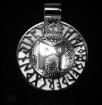 Runen-Amulett Mannaz aus 950/000 Platin