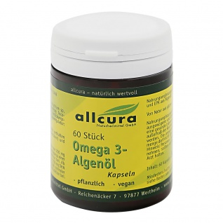 allcura Omega 3 Algenöl Kapseln
