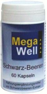 Megawell Schwarz-Beeren Kapseln