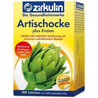 Zirkulin Artischocke plus Enzian Tabletten