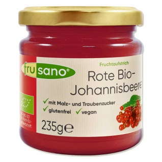 Frusano Bio Fruchtaufstrich Rote Johannisbeere