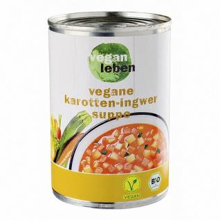 vegan leben Bio Karotten Ingwer Suppe