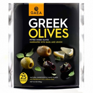 GAEA Greek Olives Basilikum