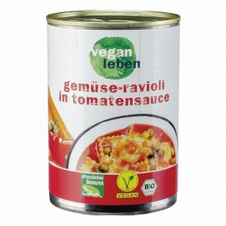 vegan leben Bio Gemüse Ravioli