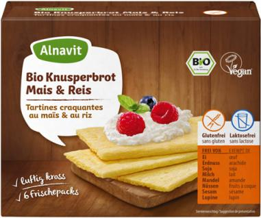 Alnavit Bio Knusperbrot Mais & Reis