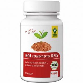Raab Bio Rot fementierter Reis Kapseln