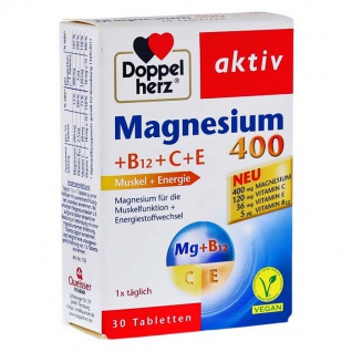 Doppelherz Magnesium 400 +B12+C+E Tabletten