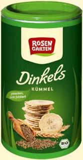 Rosengarten Dinkels Bio Kümmel Cräcker
