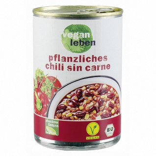 vegan leben Bio Chili Sin Carne