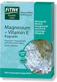 Fitne Magnesium + Vitamin E Kapseln