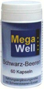 Megawell Schwarz-Beeren Kapseln - Vorschau