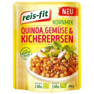 reis-fit Kornmix Quinoa, Gemüse & Kichererbsen