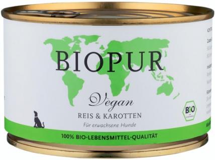 Biopur Vegan Reis & Karotten Hundefutter