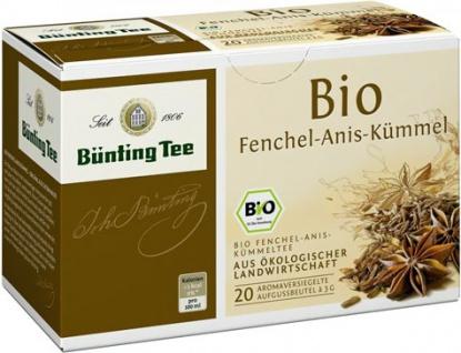 Bünting Bio Fenchel-Anis-Kümmel Tee Beutel (3g)
