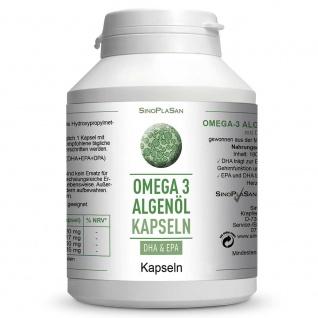 SinoPlaSan Omega-3 Algenöl Kapseln
