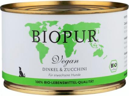 Biopur Vegan Dinkel & Zucchini Hundefutter