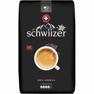 Schwiizer Schüümli Espresso ganze Bohne