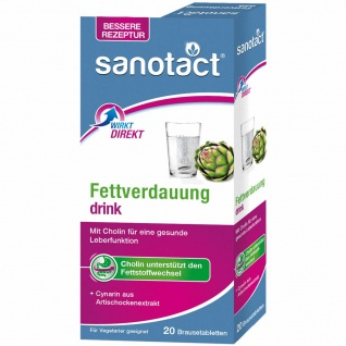 Sanotact Fettverdauung drink Brausetabletten