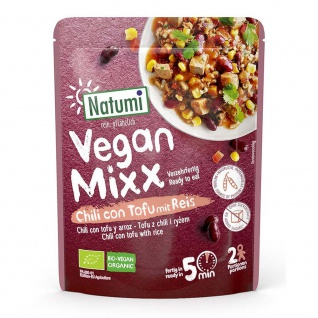 Natumi Bio Vegan Mixx Chili con Tofu mit Reis