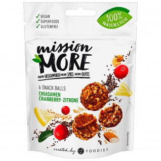 Mission More Snack Balls Chia Cranberry Zitrone