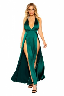 Satin Abendkleid Green Dream