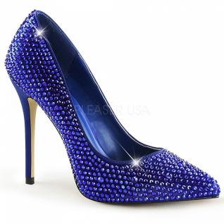 Strass Pumps Amuse-20RS blau