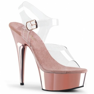 Plateau High Heels Delight-608 rose gold