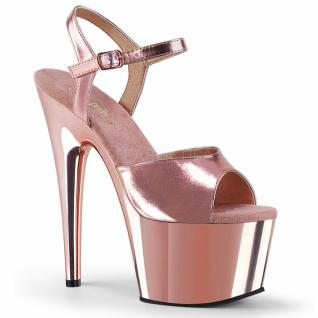 Plateau High Heels Adore-709 rose gold