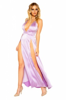 Satin Abendkleid Lavender Dream