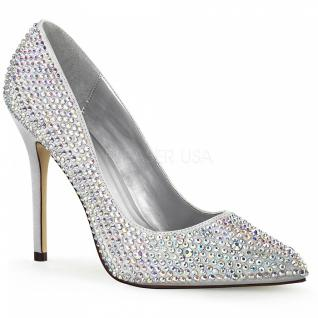 Strass Pumps Amuse-20RS silber