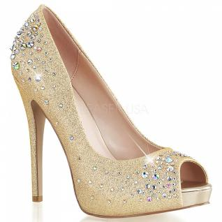 Plateau Peeptoe Pumps Heiress-22R gold