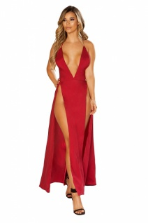 Satin Abendkleid Red Dream